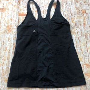 Lululemon athletic tank top black 10